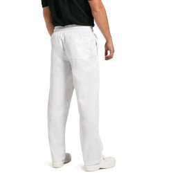 Pantalon Pâtissier blanc XL CHEF WORKS Nisbets Vêtements