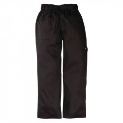 "Pantalon ""Baggy"" noir XL CHEF WORKS Nisbets Vêtements"