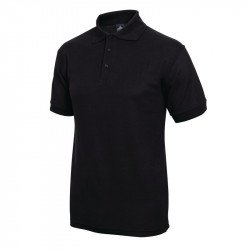 Polo 65% polyester & 35% coton noir M EQUIPEMENT DIRECT Nisbets Vêtements