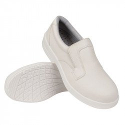 Mocassins imperméables/lavables blancs T.39 LITES SAFETY FOOTWEAR Nisbets Vêtements