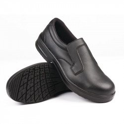 Mocassins imperméables/lavables noirs T.40 LITES SAFETY FOOTWEAR Nisbets Vêtements