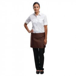 Tablier bistro court marron - 750 x 373 mm UNIFORM WORKS Tabliers