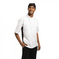 Nevada Chefs Jacket White with Black Contrast - Size XS WHITES CHEFS APPAREL Nisbets Vêtements