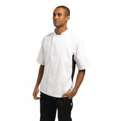 Nevada Chefs Jacket White with Black Contrast - Size XXL WHITES CHEFS APPAREL Nisbets Vêtements