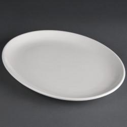 Lot de 6 assiettes creuses 305x241mm ovales Hotelware porcelaine