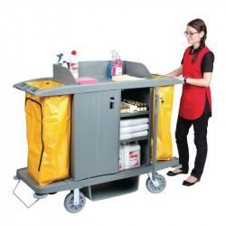 Chariot de nettoyage avec portes - 1540x540x1285mm