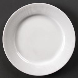 Lot de 12 assiettes à bord large Linear porcelaine Ø200mm