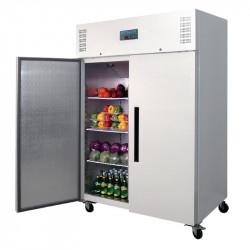 Armoire réfrigérée positive PRO 2 portes 1200 litres ouverte