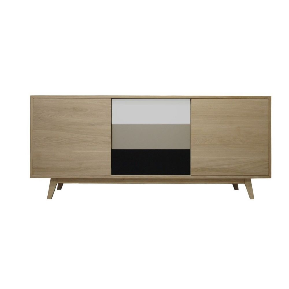 buffe vintage ch ne massif blanchi et laqu pirotais. Black Bedroom Furniture Sets. Home Design Ideas