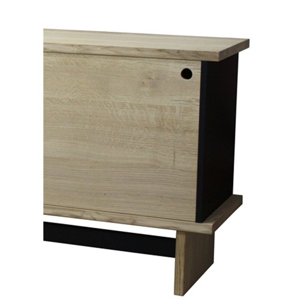 buffet vintage ch ne massif blanchi et laqu noir. Black Bedroom Furniture Sets. Home Design Ideas