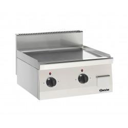 Plaque grill L 600 x P 600 mm lisse - Chrome dur  Bartscher Planchas