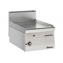 Plaque grill à gaz L 400 x P 600 mm lisse - Chromé dur Bartscher Planchas