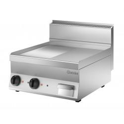 Plaque grill L 600 x P 650 mm - ½ lisse/rainurée - inox Bartscher Planchas