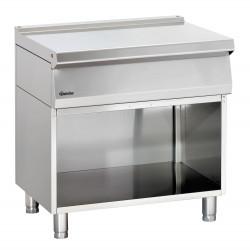 Élément de travail L 800 x P 700 mm - soubassement ouvert - inox Bartscher Tables sur placard