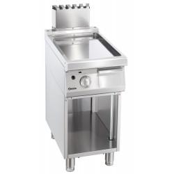 Plaque grill gaz L 400 x P 700 mm - lisse - inox Bartscher Planchas