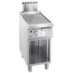 Plaque grill gaz L 400 x P 700 mm - nervuré - inox Bartscher Planchas
