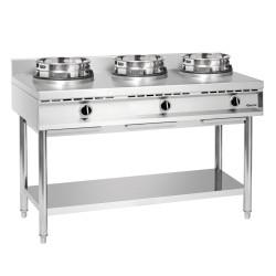 Cuisinière à wok, 3 brûleurs Bartscher Wok