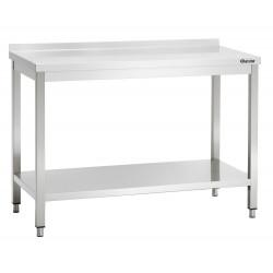 PLAN DE TRAVAIL H 850 X P 700 MM AVEC DOSSERET - INOX Bartscher Tables inox