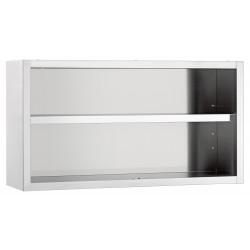 Armoire suspendue / ouverte H 660 x P 400 mm - inox Bartscher Placards muraux