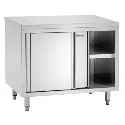 Meuble neutre à portes coulissantes P 700 x H 850 mm - inox Bartscher Tables sur placard