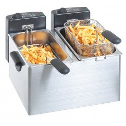Friteuse Mini II, 2x4 Litres Bartscher Friteuses à poser