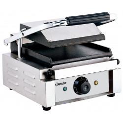 Grill panini lisse - L 290 x P 395 x H 210 mm - 1800 W - inox