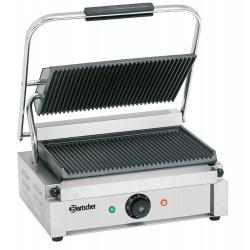 Grill panini rainuré - L 410 x P 400 x H 200 mm - 2200 W - inox
