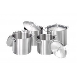 Set 4 marmites et couvercle, Induction Bartscher Casseroles