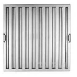 Filtre choc en inox L 400 x H 500 x P 25 mm EQUIPEMENT DIRECT Filtres pour hottes