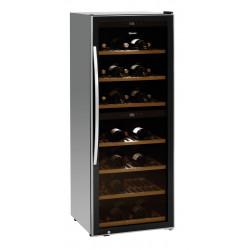 Cave vin sous comptoir porte inox polar 54 bouteilles polar - Cave a vin 2 zones temperatures ...