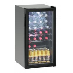 Réfrigérateur à boissons 88L/ 28 bouteilles - porte verre Bartscher Armoires vitrées