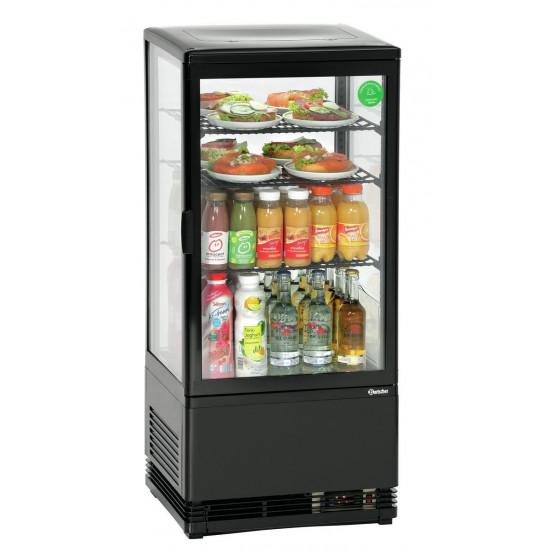 Mini vitrine réfrigérée 78 L, noire
