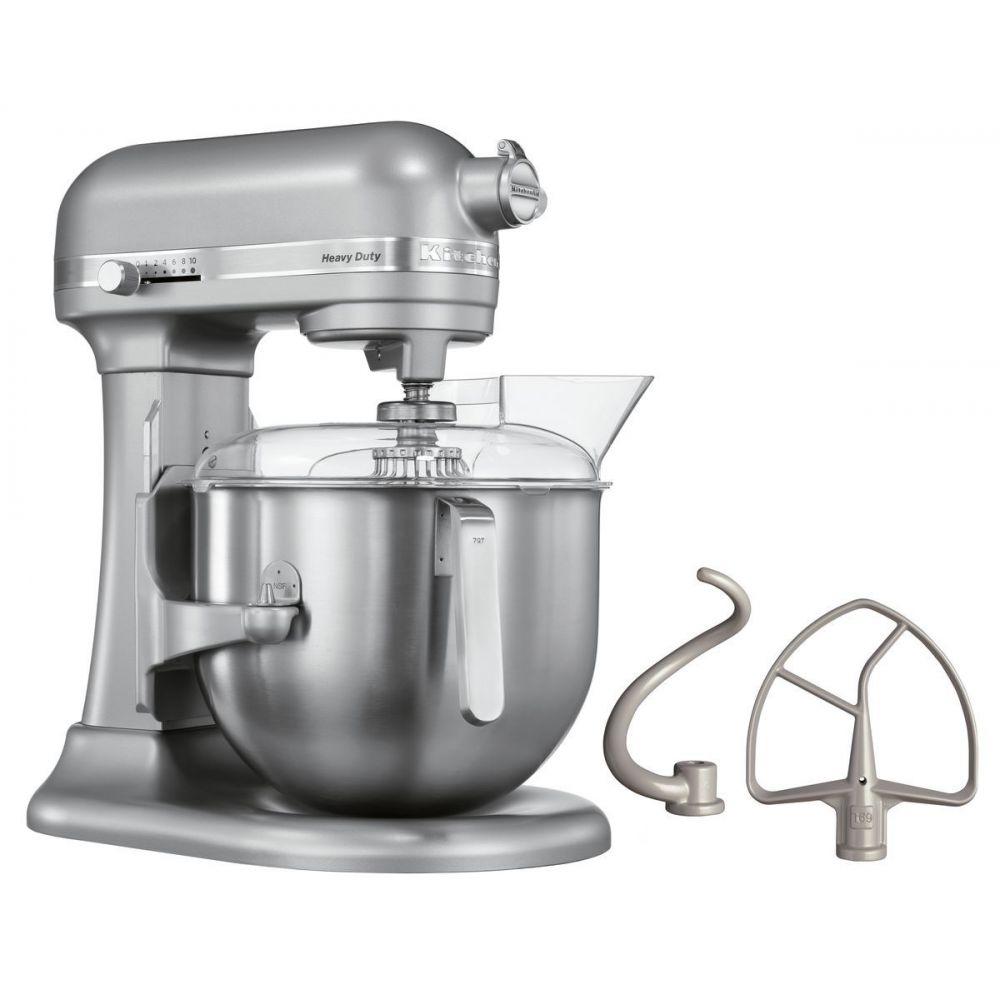 Batteur kitchenaid heavy duty 5ksm7591x argent 6 9 litres - Materiel de cuisine occasion professionnel ...