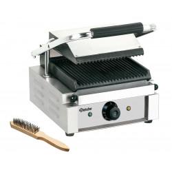 Grill panini rainuré - L 290 x P 395 x H 210 mm - 1800 W - inox