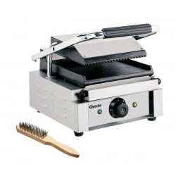 Grill panini lisse / rainuré - L 290 x P 395 x H 210 mm - 1800 W - inox