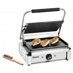 Grill panini lisse - L 410 x P 370 x H 200 mm - 2200 W - inox