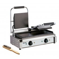 Grill panini double lisse - L 570 x P 370 x H 200 mm - 3600 W - inox