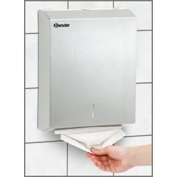 Distributeur serviettes, Inox brossé Bartscher Sèches mains