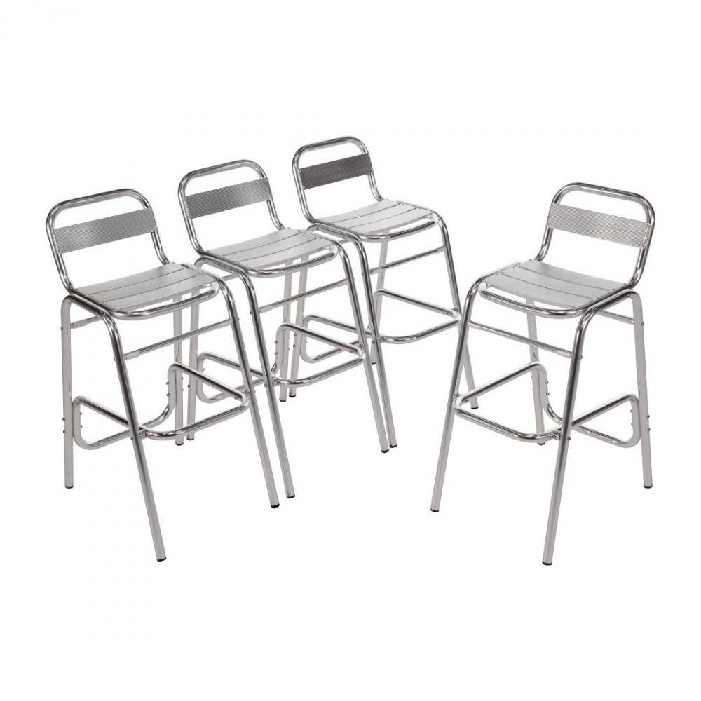 Bolero Sur Détails Chaises Bar Aluminium De 4 Lot 8n0kXwONP