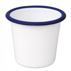 (lot de 6) Pot à sauce en acier émaillé bleu et blanc 114ml OLYMPIA Collection Acier émaillé Enamel