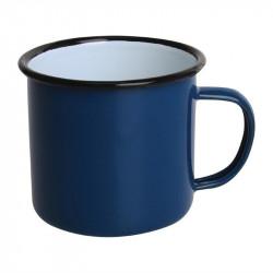 (lot de 6) Mug en acier émaillé bleu et noir 350 ml OLYMPIA Collection Acier émaillé Enamel