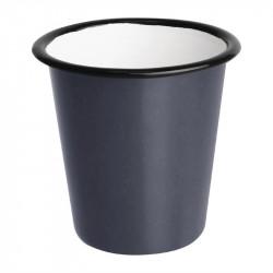 (lot de 6) Gobelets en acier émaillé gris et noir 310ml OLYMPIA Collection Acier émaillé Enamel