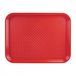 Plateau polypro rouge 350 x 450mm
