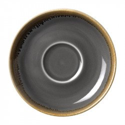 Lot de 6 soucoupes 'grise' Kiln Ø160mm