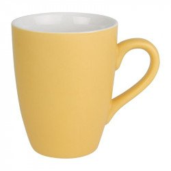 Lot de 6 mugs 320ml jaune Brighton porcelaine