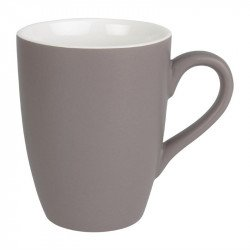 Lot de 6 mugs 320ml gris Brighton porcelaine