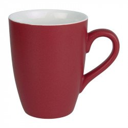 Lot de 6 mugs 320ml rouge Brighton porcelaine