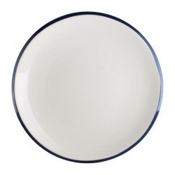 Lot de 6 assiettes plates Ø230mm Brighton porcelaine OLYMPIA Collection Brighton