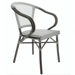 Lot de 2 fauteuils 'Biarritz' en aluminium