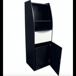 Meuble poubelle/micro-ondes (H)1800mm en bois aggloméré EQUIPEMENT DIRECT Poubelles de salle